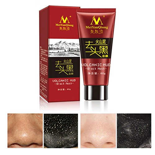 Putars Black Mud Deep Cleansing Purifying Peel Off Facail Face Mask Remove Blackhead Facial Mask For Face Nose Acne Treatment Control (Deep Volcanic Cleansing Mud Mask)