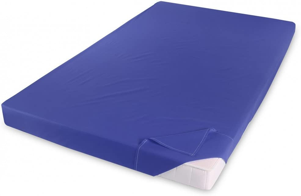 Holiday Renforce Baumwolle Betttuch Haustuch Bettlaken Laken 150x250 cm ohne Gummizug Farbe:ROYAL