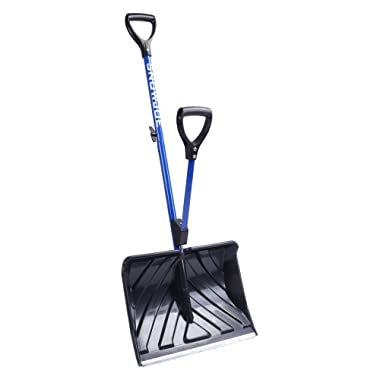 Snow Joe SHOVELUTION SJ-SHLV01 18-IN Strain-Reducing Snow Shovel w/Spring Assisted Handle