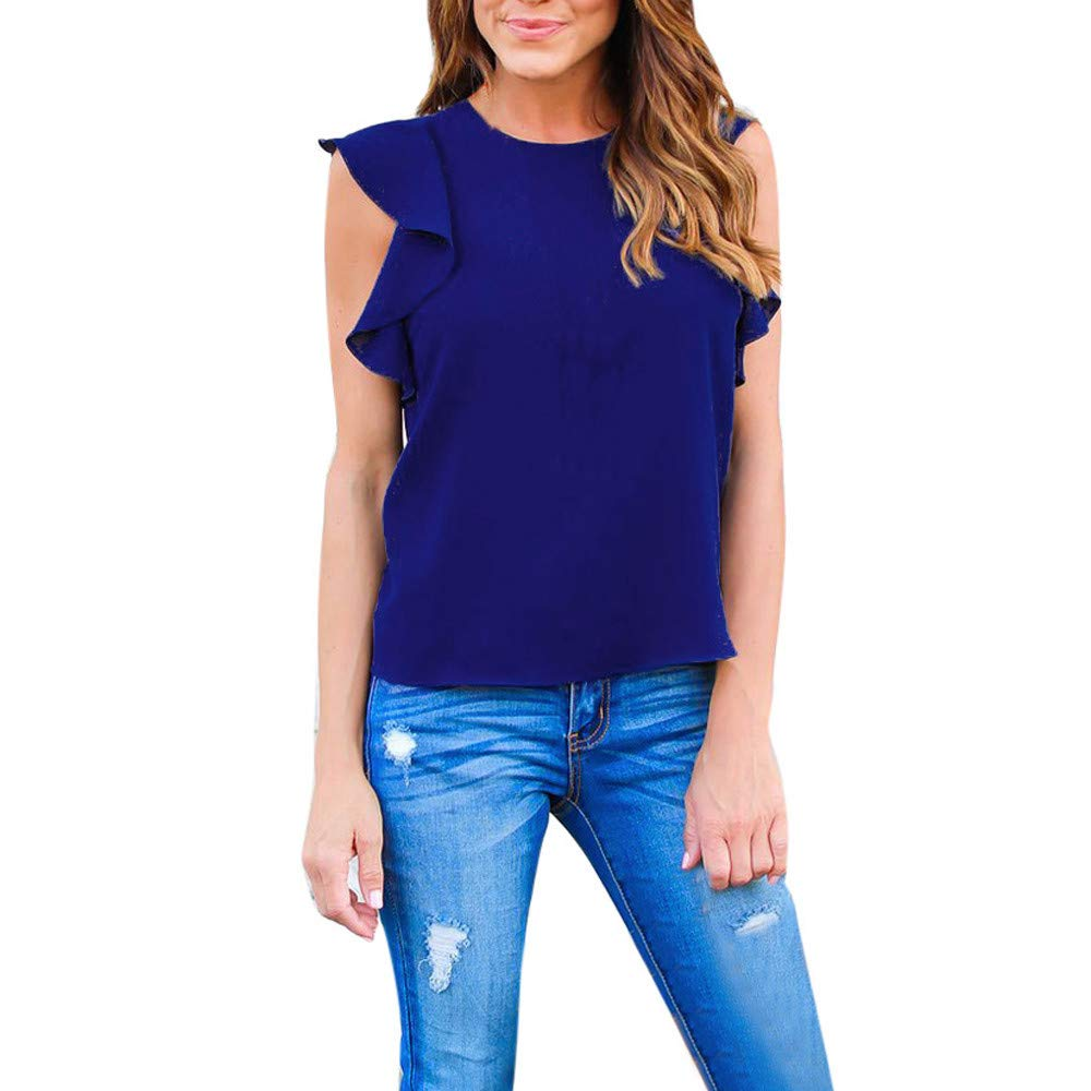 Sleeveless Summer Blouse Women Tank Tops, Women Chiffon Lace Vest Top Tank Top Casual T-Shirt Sports Tops Yoga T-Shirt Toponly