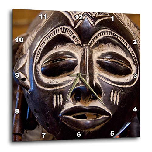 3dRose dpp_69536_3 South Africa, Durban, Zulu Tribe Mask-Af42 Cmi0179-Cindy Miller Hopkins-Wall Clock, 15 by 15-Inch