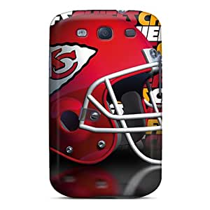Shock Absorption Cell-phone Hard Cover For Samsung Galaxy S3 (OlD14780vufd) Provide Private Custom High-definition Kansas City Chiefs Pattern