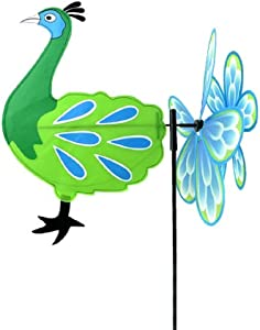 Midwest Design Imports, Inc. Peacock Garden Spinner Flag - 38