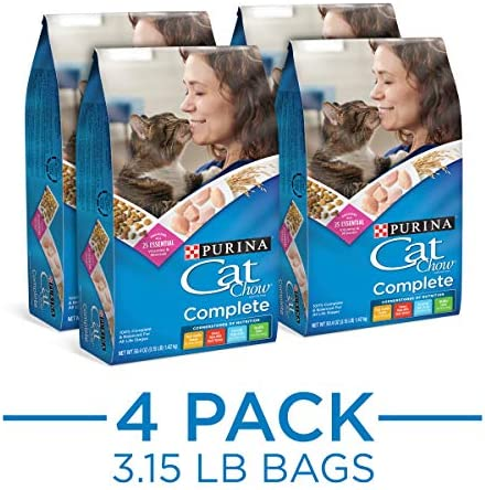 Purina Cat Chow Dry Cat Food, Complete – 4 3.15 lb. Bags