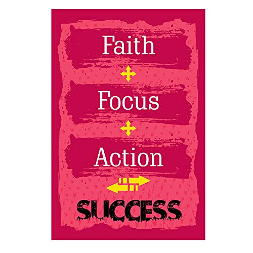 Faith Focus Action Quotes Motivational Poster 12x18 By Crafty