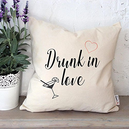 Drunk in love Pilllowcases Text pillowcase Romantic gifts Pillowcases with sayings Quote pillow cover Song pillow cover Love quote Throw pillowcase Home decor 16x16