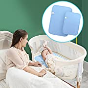 Waterproof Diaper Changing Pad Liners - [2 Pack] COSCOD Bamboo Quilted Thicker Longer Portable Changing Mat for Babies Extra-Large Super Soft Portable & Travel Mattress Pad Cover for Boys and Girls