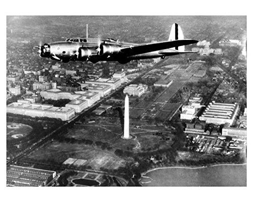 1937 B17 Airplane First Washington Flight Photo Poster