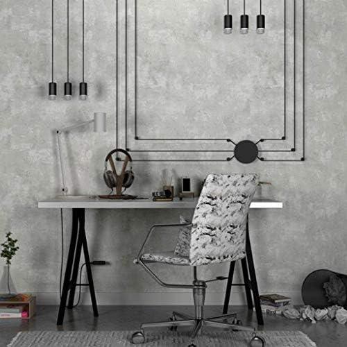 壁紙 シール Wallpaper ウォール ステッカー リメイク シート レトロなノスタルジックな産業風の不織布のリビングルームの衣料品店の平野無地 diy (Color : Lead Gray)