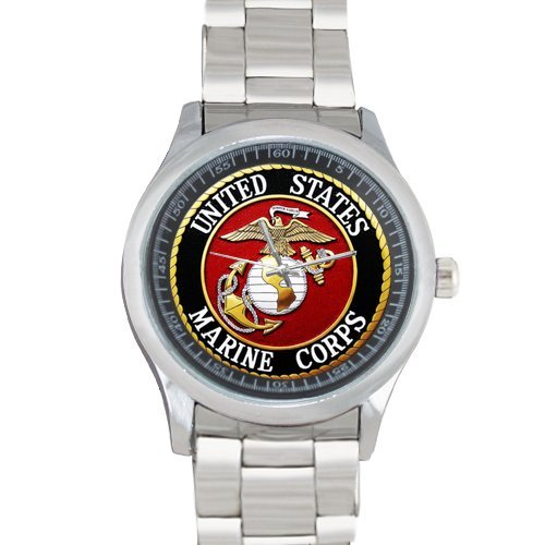 United States Marine Corps Logo Custom Men Metal Watch(40mm diastainless band)