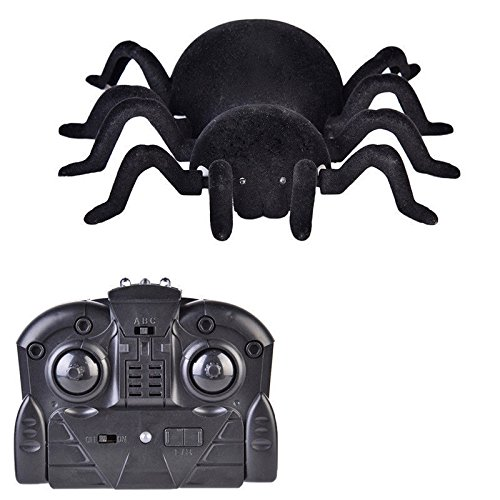 Shalleen Remote Control Scary Creepy Spider Infrared RC Climbing Car Toy Kid Gift