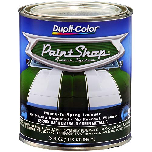 Dupli-Color BSP209 Dark Emerald Green Metallic Paint Shop Finish System - 32 oz.