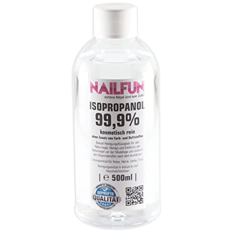 Nailfun 500 Ml Alcool Isopropylique 999 Amazonfr Beautã Et Parfum