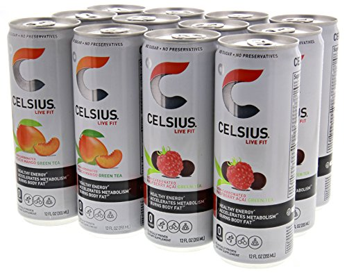 Celsius Non Carbonated 6 Raspberry Green 6 Peach product image