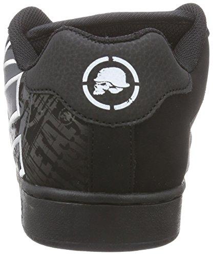 Etnies Metal Mulisha Fader, Zapatillas de Skateboarding para Hombre Negro - Black - Schwarz (Black/Black/White)