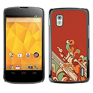 Hot Style Cell Phone PC Hard Case Cover // M00100262 abstract minimalistic // LG Nexus 4
