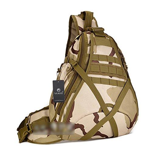 YAAGLE Groß Fassungsvermögen Reisetasche Schultertasche Gepäck militärisch Brustbeutel 14 zoll Laptoptasche Fahrradrucksack Bergsteigen Kuriertasche-Tarnung 2