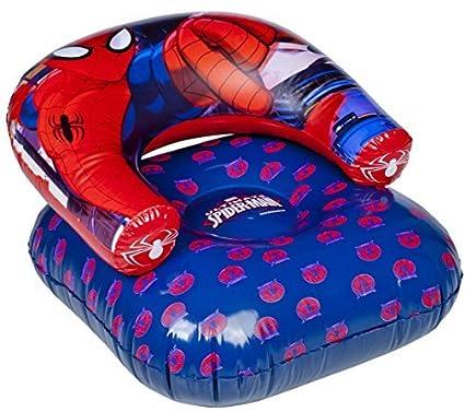 Silla inflable Marvel Spider-Man roja y azul: Amazon.es: Hogar