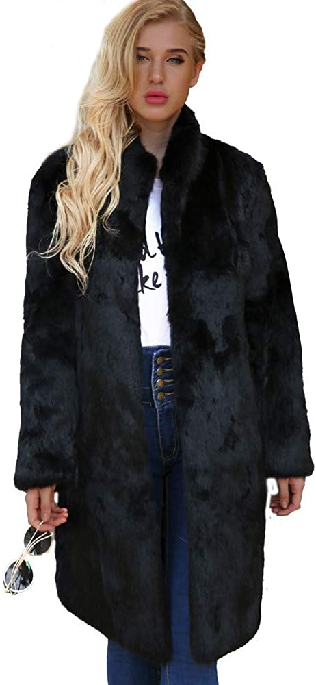 Plus Size Cable Knit Cardigans for Women,Womens Warm Artificial Wool Coat Stand Collar Jacket Winter Parka Outerwear