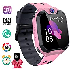 PTHTECHUS Kids Smart Watch - 1.54 Touch Screen Sports Smartwatch with [1GB Micro SD Card] Two-Way Call Camera 7 Games Recorder Alarm Clock Music Player for Birthday Gift Children Boys Girls (Pink)
