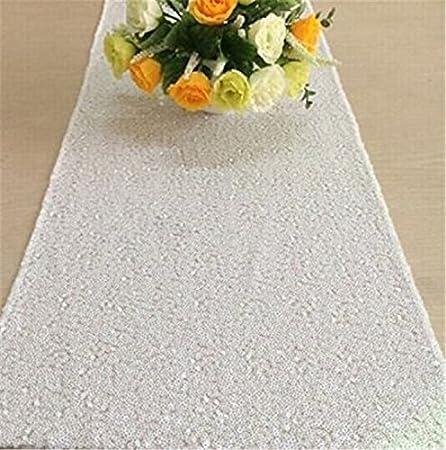 TRLYC 33,02 cm * pulgada 72 camino de mesa de tela con lentejuelas ...
