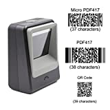 TEEMI 2D barcode image reader USB Automatic Hands-free barcode scanner for Mobile Payment Supermarket Library Retail Store Warehouse black