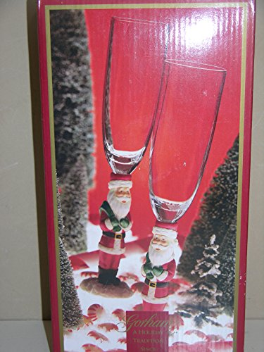 Gorham Winter Follies - Santa Crystal Flute -