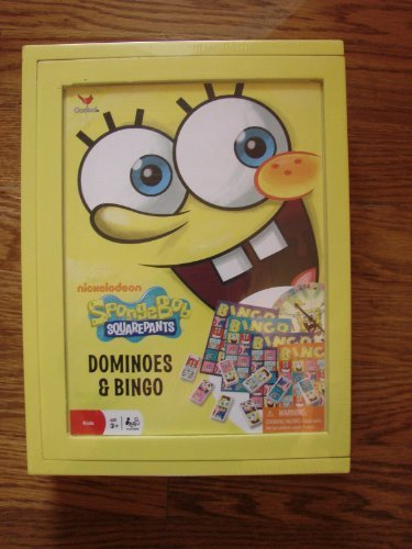 (Spongebob Squarepants Dominoes and Bingo Set - Includes: Spongebob Wooden Storage Box!)
