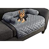 "PETMAKER Furniture Protector Pet Cover for Dogs and Cats with Shredded Memory Foam Filled 3-Sided Bolster Soft Plush Fabric– 30"" x 30.5"" Gray"