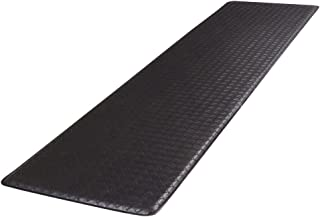 """product image for GelPro Classic Anti-Fatigue Kitchen Comfort Chef Floor Mat, 20x72"""", Basketweave Black Stain Resistant Surface with ½"""" gel core for health & wellness"""
