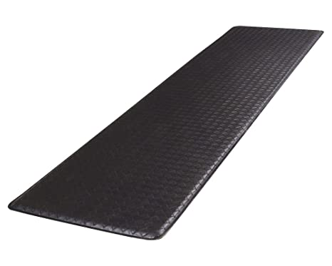 Gelpro Classic Anti Fatigue Kitchen Comfort Chef Floor Mat 20x72 Basketweave Black Stain Resistant Surface With Gel Core For Health Wellness