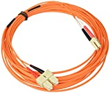 C2G/Cables to Go 38612 LC/SC Plenum-Rated Duplex 62.5/125 Multimode Fiber Patch Cable (8 Meter, Orange)