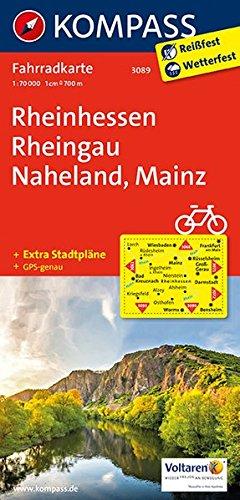 Rheinhessen, Rheingau, Naheland, Mainz: Fahrradkarte. GPS-genau. 1:70000 (KOMPASS-Fahrradkarten Deutschland, Band 3089) Landkarte – Folded Map, 7. April 2018 KOMPASS-Karten GmbH 3850263096 Rheinland-Pfalz Bundesrepublik Deutschland