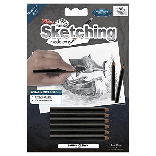Royal Brush Mini Sketching Made Easy Kit, 5 by 7-Inch, Shark