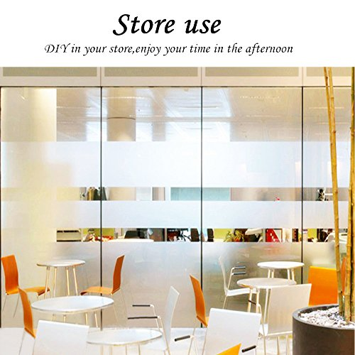 35.6by78.7 Inch Window Film Frosted Window Film Privacy Window Film Decorative Window Film Static Cling Window Film Suitable for All Kinds of Smooth Glass Surface by Beautyhero (Image #2)