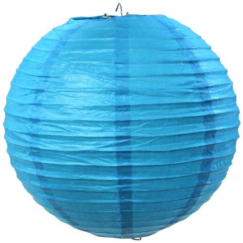 Koyal Wholesale Paper Lantern, 20-Inch, Turquoise Blue, Set of 6