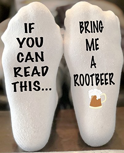 (if You Can Read This Bring Me A Rootbeer Funny Novelty Funky Crew Socks Men Women Christmas Gifts Slipper Socks)