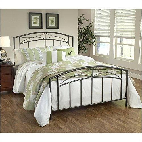 Hillsdale Furniture 1545BFR Morris Bed Set with Rails, Full, Magnesium Pewter