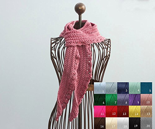 Hand Crocheted Scarf, Soft Scarf , Autumn Scarf, Winter Scarf, Long Scarf, Lace Scarf, Custom, Chose Color