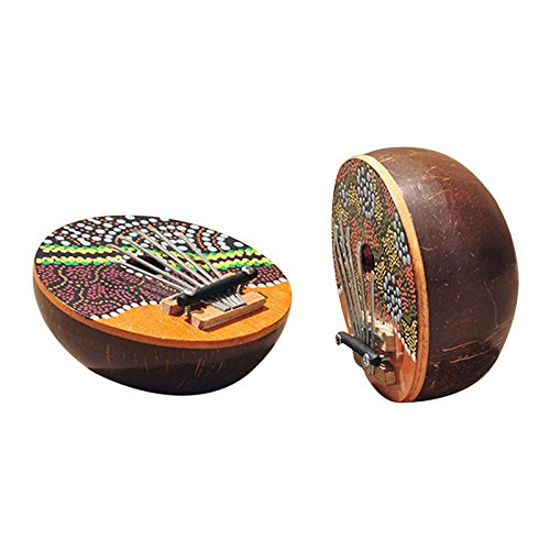 AFRICAN 6 Key Kalimba Coconut Shell Finger Piano Musical for sale  Delivered anywhere in Canada