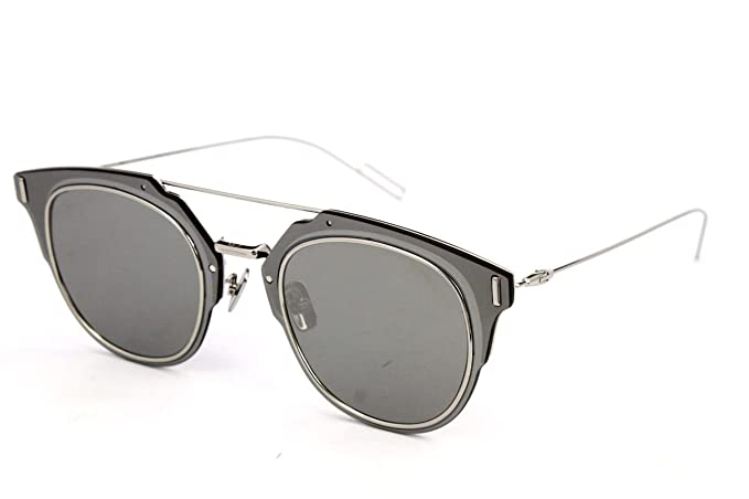 afc4228c5a04 Dior Homme Composit 1.0 010 Palladium Composit 1.0 Round Sunglasses Lens  Catego  Amazon.co.uk  Clothing