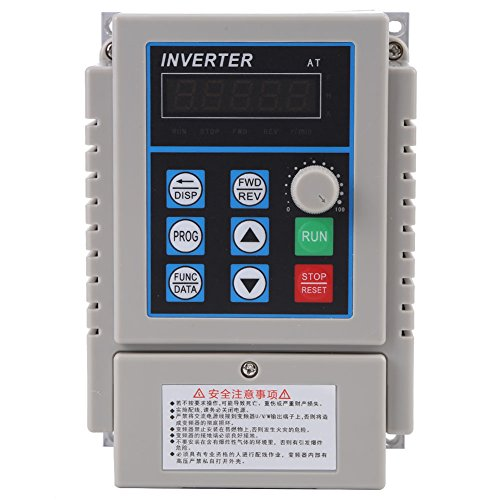 Walfront 0.45kW VFD Drive Inverter, 220V AC Variable Frequency Drive VFD Speed Controller Inverter for 3-phase Motor by Walfront