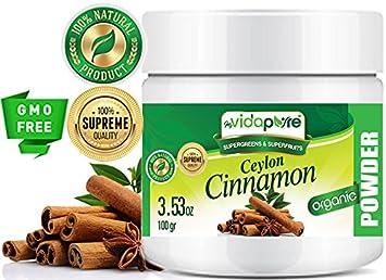 Polvo orgánico de la canela de Ceilán SIN Gluten sin gluten ...