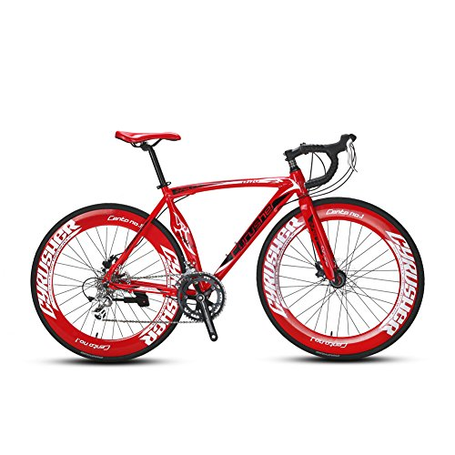 VTSP Upgrade XC700 Road Bike Road Bicycle For Man 56CM 700C 14 Speeds Mechanical Disc Brakes Bicycle Ships From US Warehouse