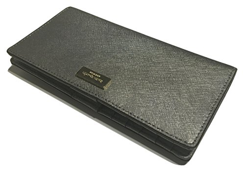 Kate-Spade-Newbury-Lane-Stacy-Clutch-Wallet-Saffiano-WLRU1601-with-Gift-Box-Anthracite