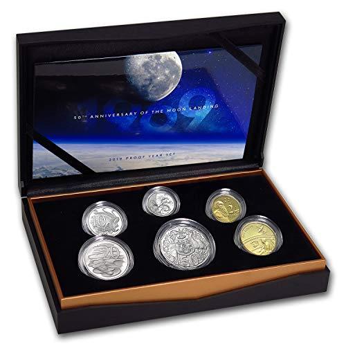 Landing Mint - AU 2019 6-Coin Royal Australian Mint Moon Landing Proof Set Brilliant Uncirculated