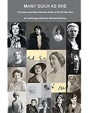 Many Such as She: Victorian Australian Women Poets of World War One