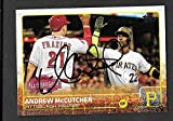 Andrew McCutchen Pittsburgh Pirates autographed signed 2015 Topps card - - (Near Mint Condition)