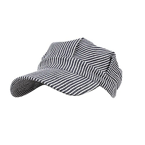 Rothco Adult Hickory Striped Engineer Train Conductor Cap -