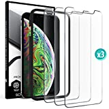 Screen Protector for iPhone XS - iPhone X - Film Tempered Glass Scratch Resistant Impact Shield Glass Case Friendly Anti Fingerprint